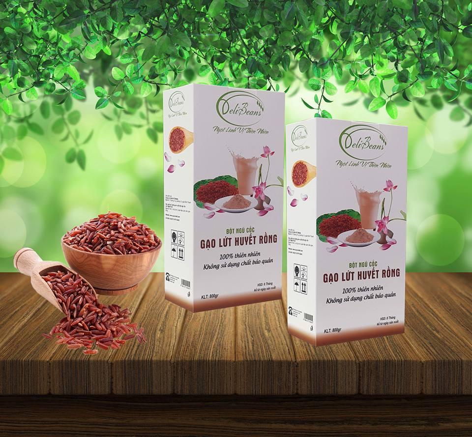 Bột ngũ cốc gạo lứt huyết rồng DeliBeans (Hộp 800g) 13 - Deli Beans