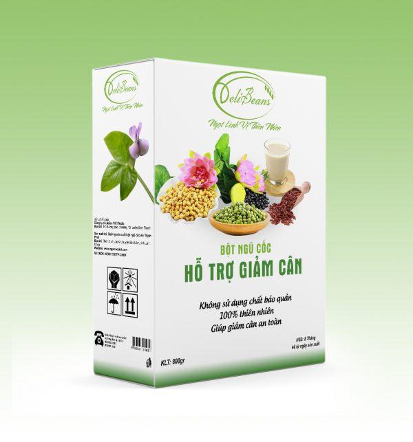 Bột ngũ cốc hỗ trợ giảm cân DeliBeans (Hộp 800g) 1 - Deli Beans