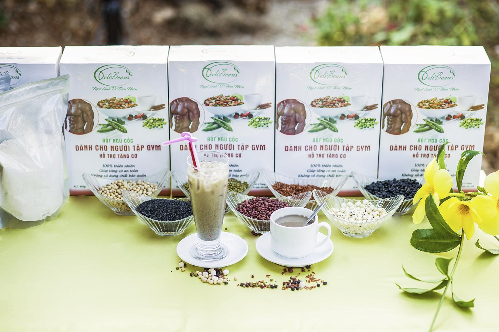 Bột ngũ cốc tăng cơ DeliBeans - tập GYM (Hộp 40 gói) 12 - Deli Beans