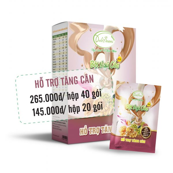 Bột ngũ cốc hỗ trợ tăng cân DeliBeans (Hộp 40 gói) 2 - Deli Beans