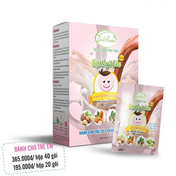Bột ngũ cốc dinh dưỡng trẻ em (4 tháng - 5 tuổi) - Hộp 20 gói 1 - Deli Beans