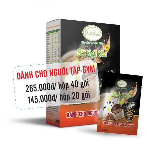 Bột ngũ cốc tăng cơ DeliBeans - tập GYM (Hộp 40 gói) 2 - Deli Beans