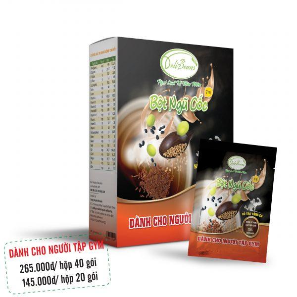 Bột ngũ cốc tăng cơ DeliBeans - tập GYM (Hộp 40 gói) 1 - Deli Beans