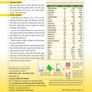 Bột ngũ cốc dinh dưỡng cao cấp DeliBeans (Hộp 800g) 6 - Deli Beans