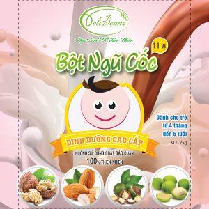 Bột ngũ cốc dinh dưỡng trẻ em (4 tháng - 5 tuổi) - Hộp 20 gói 5 - Deli Beans