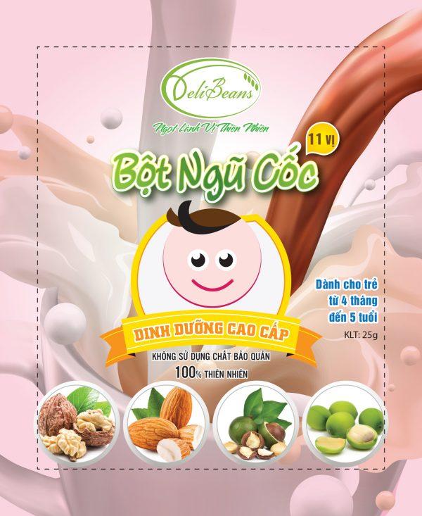Bột ngũ cốc dinh dưỡng trẻ em (4 tháng - 5 tuổi) - Hộp 20 gói 2 - Deli Beans