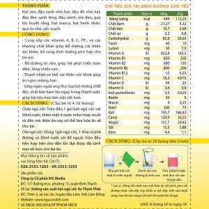 Bột ngũ cốc dinh dưỡng trẻ em (4 tháng - 5 tuổi) - Hộp 20 gói 6 - Deli Beans