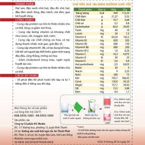 Bột ngũ cốc tăng cơ DeliBeans - tập GYM (Hộp 800g) 6 - Deli Beans