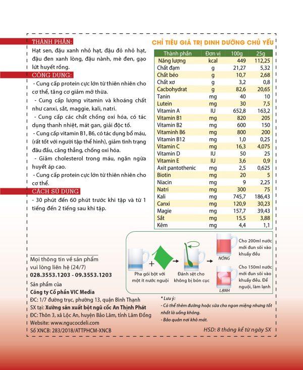 Bột ngũ cốc tăng cơ DeliBeans - tập GYM (Hộp 800g) 2 - Deli Beans