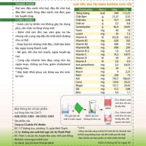 Bột ngũ cốc hỗ trợ giảm cân DeliBeans (Hộp 800g) 5 - Deli Beans
