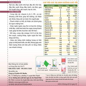 Bột ngũ cốc hỗ trợ tăng cân DeliBeans (Hộp 800g) 5 - Deli Beans