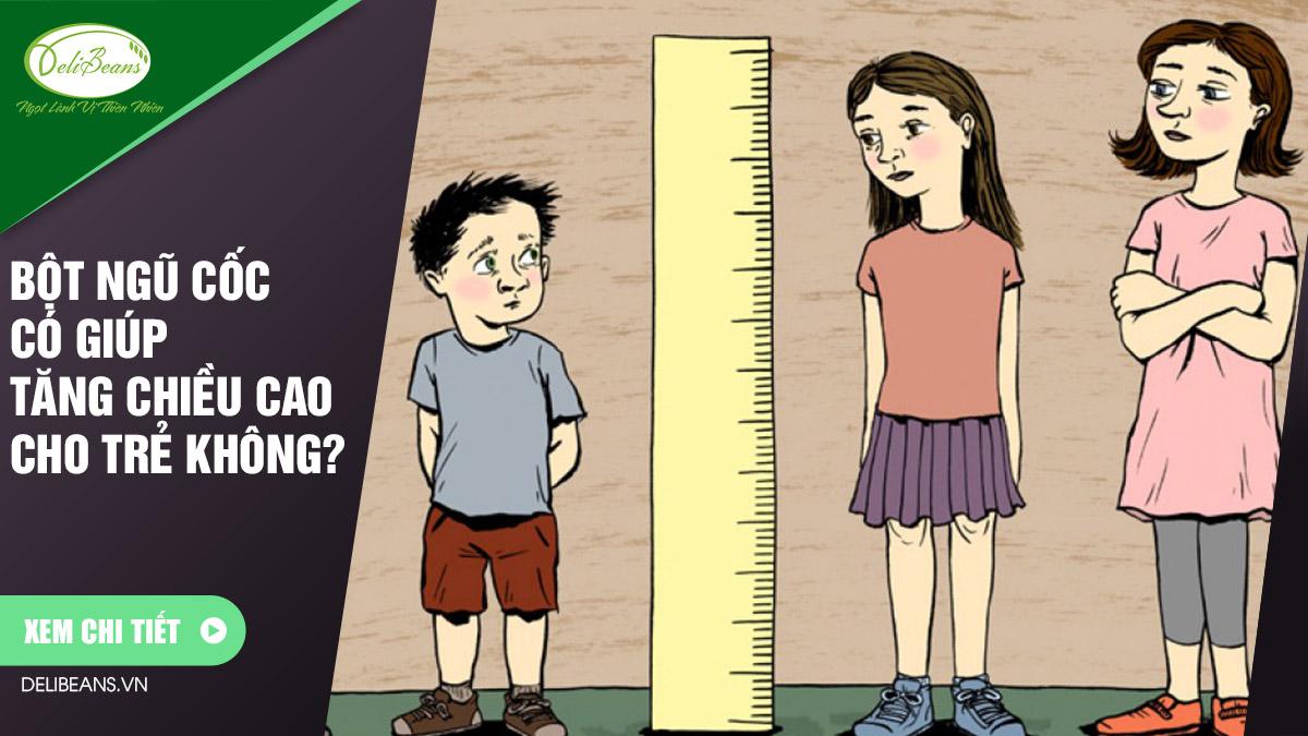 Bột ngũ cốc có giúp tăng trưởng chiều cao cho trẻ không?