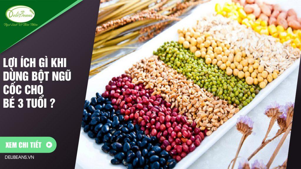 Lợi ích gì khi dùng bột ngũ cốc cho bé 3 tuổi ? 1 - Deli Beans
